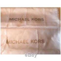 100% Michael Kors Jet Set Travel Saffiano LARGE Top Zip Tote -Tulip- Boxed