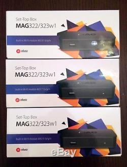 3pcs package GENUINE MAG 322w1 Media Streamer IPTV SetTop Box 254 BEST PRICE
