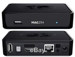 5x Mag 254 - Feel the Power -HD IPTV Set Top Box - cmp AVOV & Dreamlink