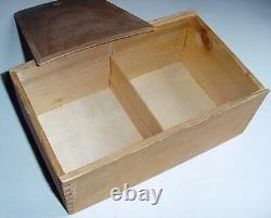 60s Lardy Carved Staunton Tan & Ebonized Wood Chess Set w Slide Top Box 4.25 K