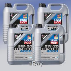 AKTION Liqui Moly 3756 TopTec 4600 5W-30 4 x 5 Liter Motor-Öl
