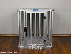 ALU Hundekäfig von Callieway Dogbox Pro in den Größe XXL