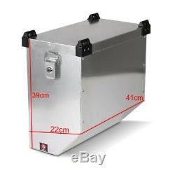 Alu Pannier Set Namib 36l-36l Top Box 38L with mounting kit for luggage racks