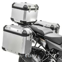 Aluminium Panniers Set + Top Box for BMW R 1250 GS / Adventure GX45 silver
