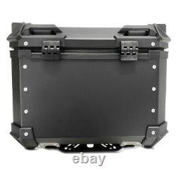Aluminium Panniers Set + Top Box for BMW R 1250 GS / Adventure XB55 black