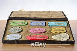 #Antique Chinese Inkstones# Pottery Immortal Caligraphy Boxed set Top Quality