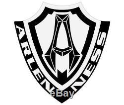 Arlen Ness 18-253 10-Gauge Billet Aluminum Rocker Box Top Cover Set Black