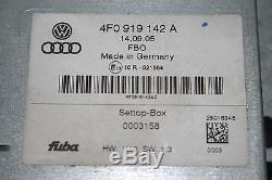 Audi A6 4F 6C TV Tuner Steuergerät 4F0919142A Settop Box Fernseh Empfänger