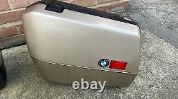 BMW K100 LT Full Set of Luggage Top Box and 2 Panniers / Saddle Bags GOLD key