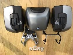 BMW XR1000 Motorrad complete luggage set. Top Box, Pannier Set, All brackets