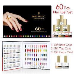 BORN PRETTY 60 Bottles/Box 10ml Nail UV Gel Polish Base Top Coat Set Gift Kits