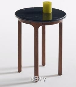 BRAND NEW BOXED Set of 2 Botello Round side tables with marble top, La Redoute
