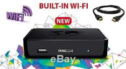BRAND NEW- INFOMIR MAG254W1 Set-Top-Box + Builtin WIFI + HDMI CABLE MAG254 W1