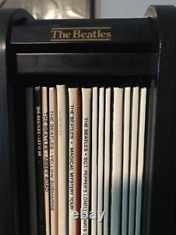 Beatles 1988 Wooden Roll top box set very limited 14 Sealed Lp Minor Ware On Box