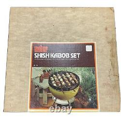 Brand New VTG Weber Shish Kabob Set S-26 with Box (Damaged) Kettle Grill Top