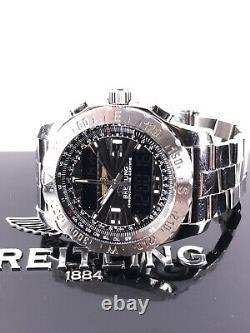 Breitling Airwolf SuperQuartz 43mm black dial Full Set A78363 Box/Papiere Top