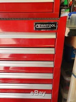 Britool Tool Box Roll Cab, Side Cab and Top Box with 2x sets of keys