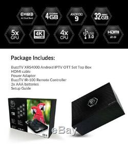 BuzzTV XRS 4000 Android IPTV OTT set-top HD 4K TV Box