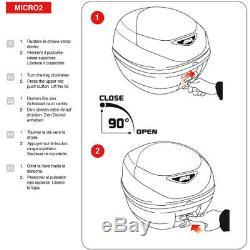 CRF1000L Africa Twin TOP BOX complete set GIVI E300N2 CASE + SR1144 RACK + PLATE