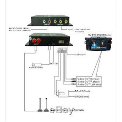 Car Mobile Phone HD DVB-T MPEG-4 Double Antenna Digital TV Set Top Receiver Box