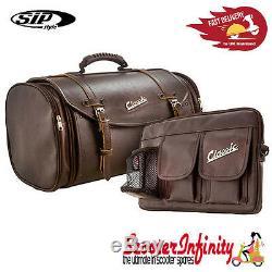 Case Top Box Roll Bag SET VESPA PX GTS/GT/GTV/LX LAMBRETTA (FITS ANY CARRIER)