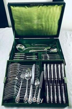Christofle MARLY Flatware 64 pcs 12 Pers Table Dinner set TOP + Box