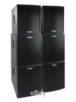 Dj Pa Aktiv Anlage Konzert Lautsprecher System 2 Tops 4 Subwoofer Box Set 3000w
