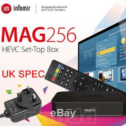 GENUINE MAG 256 Streamer SET TOP BOX Internet IPTV FACTORY FITTED UK SPEC PLUG