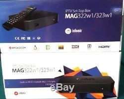 GENUINE MAG 322W1Streamer IPTV SetTop Box Built-In WiFi BEST PRICE PLUG & PLAY
