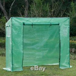 Garden Greenhouse Cover Set Steel Portable Box Up Green Frame Easy Door Top