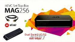 Genuine MAG 256 WiFi IPTV Set-Top Box Media Streamer 600M same as MAG256 w2