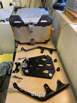 Genuine Suzuki V-Strom 1050A/XT Aluminium Pannier Set Top Box Bash Plate