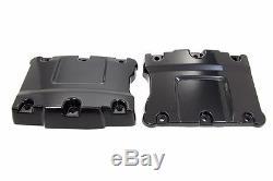 Gloss Powder Black Upper Top Rocker Box Boxes Set Harley Big Twin Cam 1999-2017