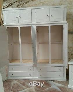 Handmade (white) Quad+top Box & X2 Bedside Cabinet Set Not Flat-pack