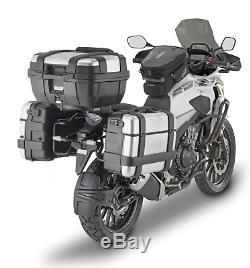 Honda CB500X 2019 Pannier Set + Top Box Set GIVI PLO1171MK + 3 x TREKKER monokey