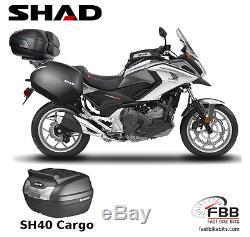 Honda Nc750x 16 17 Shad Luggage Set Inc Sh40 Cargo Topbox Panniers