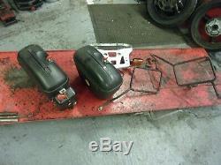 Honda xl 1000 varadero 99-03 set of panniers and top box frame luggage