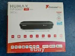 Humax FVP-5000T Freeview Play HD TV Recorder 1TB Black (Set-top box)