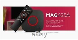 Infomir MAG 425A IPTV/OTT 4K Set-Top Box Android TV 8GB Voice Remote Wi-Fi HDMI