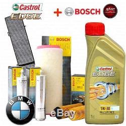 Inspektionskit L Castrol Edge 5w30 8lt 4 Filter Bosch Bmw 5 E60 530d 160 Kw