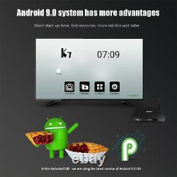 K7 Smart Android 9.0 TV Box DVB-S2 DVB-T2/T DVB-C TV Set-top Box 4GB/64GB M8M0