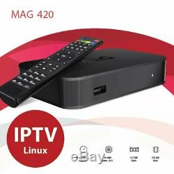 LATEST RELEASE Mag 420 4K Set Top Box Linux 4K UHD HEVC Wifi and Bluetooth