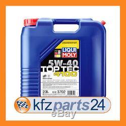 LIQUI MOLY Motoröl Top Tec 4100, 5W-40, 20-Liter Kanister Art. Nr. 3702