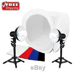 LimoStudio 2 Sets 18W Table Top Lighting Kit Light Stand Tripod Soft Box Tent