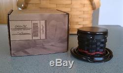 Longaberger 2013 Collector's Club Miniature Snowman Top Hat Basket set NEW withbox