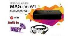MAG256W1 Mag 256W1 IPTV OTT Set-Top Box WiFi 2.4Ghz Built-in