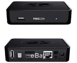 MAG 254 IPTV SET TOP BOX M3U Multimedia Player Internet TV Box USB HDTV + HDMI