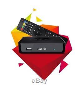 MAG 254 IPTV SET TOP BOX Multimedia player Internet TV Konsole USB + HDMI Kabel