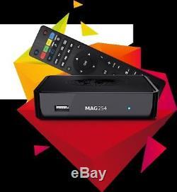 MAG 254 Wlan BOX Player IPTV Internet TV Box SET TOP Multimedia USB HDMI