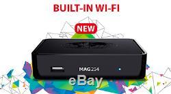 MAG 254w1 WLAN WiFi 150Mbs IPTV Streamer SET TOP BOX Multimedia Internet TV HD